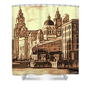 World Famous Three Graces Shower Curtain