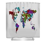 World Map 1b Shower Curtain