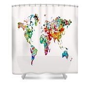 World Map 3b Shower Curtain
