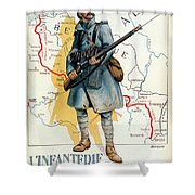 World War I: French Poster Shower Curtain