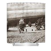 World War I: Zeppelin Shower Curtain