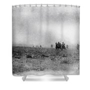 World War Two Battle By John Springfield Shower Curtain