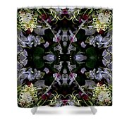 Worm Hole Mandala Shower Curtain