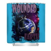 Wounded Earth Shower Curtain