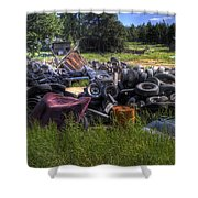 Wrecking Yard Study 9 Shower Curtain