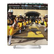Wyoming Cowboys Entering The Field Shower Curtain