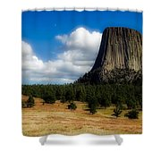 Wyoming's Devil's Tower Shower Curtain