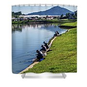 Xuan Huong Lake Shower Curtain