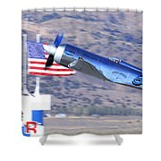 Yak Attack Sunday's Gold Unlimited Race Shower Curtain
