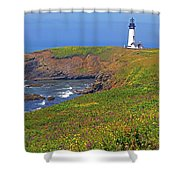Yaquina Head Lighthouse Shower Curtain