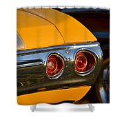 Yellow Chevy Shower Curtain