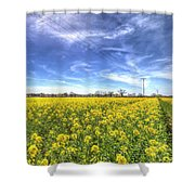 Yellow Fields Of Summer Shower Curtain
