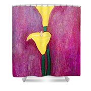 Yellow Lily  Shower Curtain