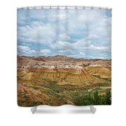 Yellow Mounds Of Badlands Np Shower Curtain