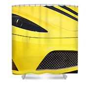 Yellow Stradale Shower Curtain