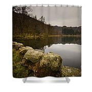 Yew Tree Tarn Shower Curtain