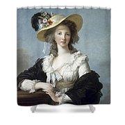 Yolande-martine-gabrielle De Polastron Duchesse De Polignac Lisabeth Louise Vige Le Brun Shower Curtain