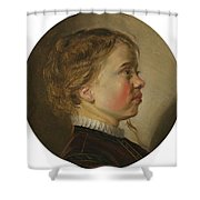 Young Boy In Profile Shower Curtain