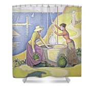 Young Women Of Provence At The Well, 1892 Shower Curtain