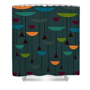 Zappwaits Retro Shower Curtain