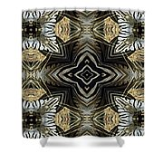 Zebra V Shower Curtain