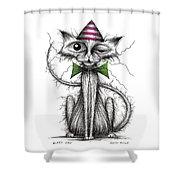 Zippy Cat Shower Curtain
