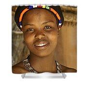 Zulu Maiden Shower Curtain
