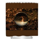 10-17-16--8585 The Moon, Don't Drop The Crystal Ball, Crystal Ball Photography Shower Curtain