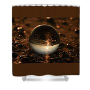 10-17-16--8590 The Moon, Don't Drop The Crystal Ball, Crystal Ball Photography Shower Curtain