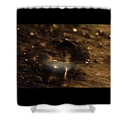 10-17-16--8634 The Moon, Don't Drop The Crystal Ball, Crystal Ball Photography Shower Curtain
