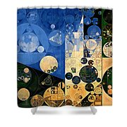 Abstract Painting - Dark Jungle Green Shower Curtain