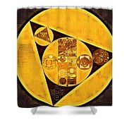 Abstract Painting - Green Revolver Shower Curtain