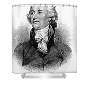 Alexander Hamilton Shower Curtain by Granger