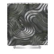 Alien Fluid Metal Shower Curtain