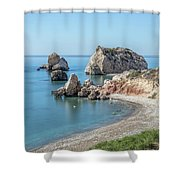 Aphrodite's Rock - Cyprus Shower Curtain