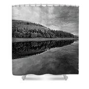 Autumn Derwent Reservoir Derbyshire Peak District Shower Curtain