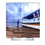 Bali Sunrise Shower Curtain