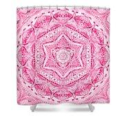 Birth Mandala- Blessing Symbols Shower Curtain