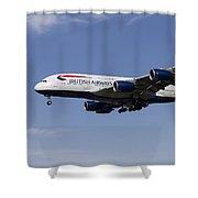 British Airways Airbus A380 Shower Curtain