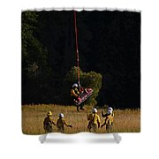 Climber Rescue Operation In Yosemite Shower Curtain