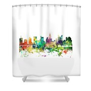 Columbus Ohio Skyline Shower Curtain