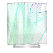 Dynamic And Bright Linear Spiral With Colorful Gradient Shower Curtain