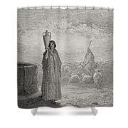 Engraving From The Dore Bible Shower Curtain