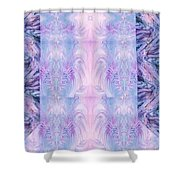 Floral Abstract Design-special Silk Fabric Shower Curtain