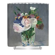 Flowers In A Crystal Vase Shower Curtain