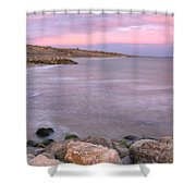 Highcliffe Beach In Dorset Shower Curtain