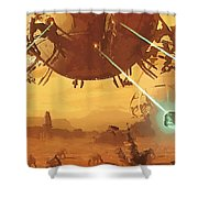 Imperial Star Wars Poster Shower Curtain