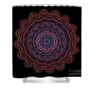 Kaleidoscope Image Created From Light Trails Shower Curtain