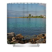 10- Lake Worth Inlet Shower Curtain