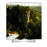 Landscape Modern Shower Curtain